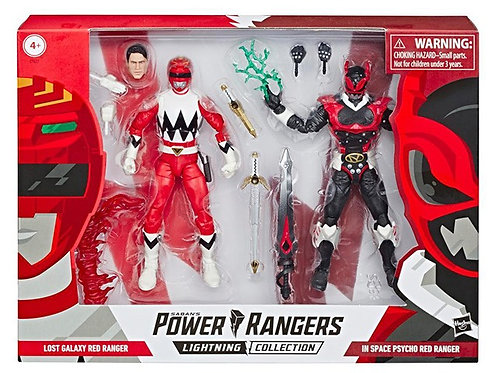 POWER RANGERS LIGHTNING COLLECTION IN SPACE PSYCHO RED/LOST GALAXY RED 2PK