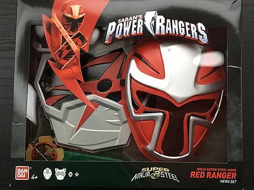 Ninja Super Steel Mode Red Ranger Hero Set