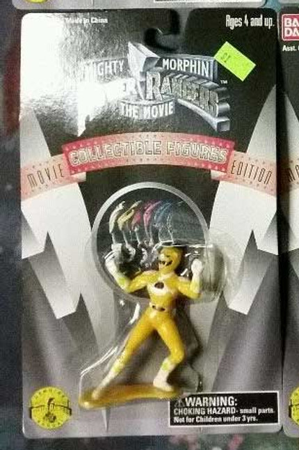 "Mighty Morphin Power Rangers The Movie 3"" Yellow Ranger Collectible Figure"