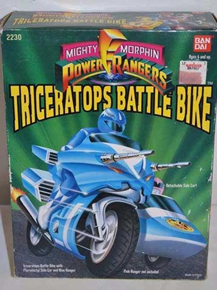 Mighty Morphin Power Rangers Battle Bikes - Triceratops Battle Bike