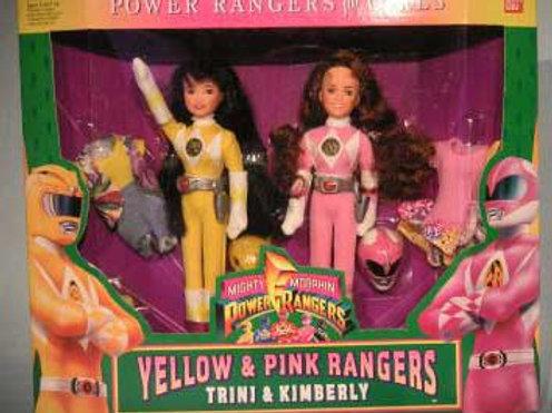 Mighty Morphin Power Rangers Yellow & Pink Rangers: Trini & Kimberly Gift Set