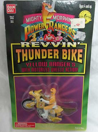 Mighty Morphin Power Rangers Yellow Ranger's Revvin' Thunder Bike