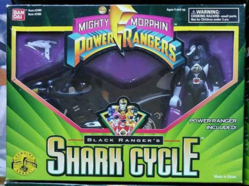 Mighty Morphin Power Rangers Black Ranger's Shark Cycle