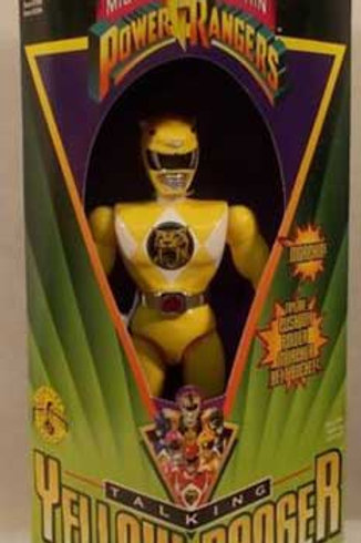 "Mighty Morphin Power Rangers 8"" Talking Yellow Power Ranger"