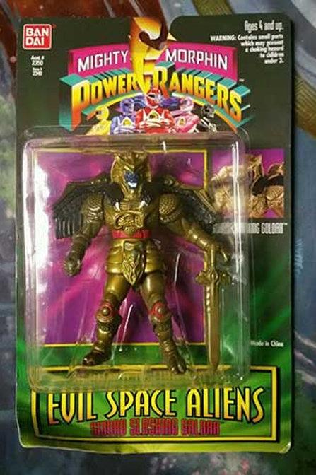 "Mighty Morphin Power Rangers Evil Space Aliens 5.5"" Sword Slashing Goldar"