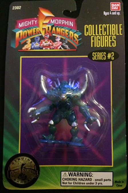 """Mighty Morphin Power Rangers 3"""" Collectible Figures Series 2 Silver Horns"""