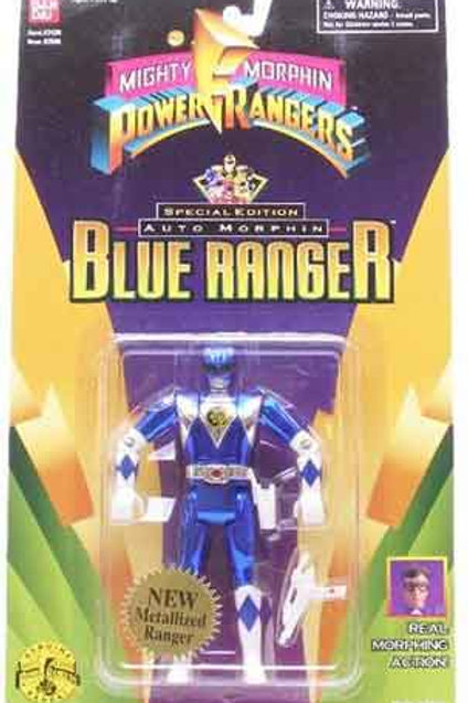 Mighty Morphin Power Rangers Special Edition Metallic Auto Morphin Blue Ranger