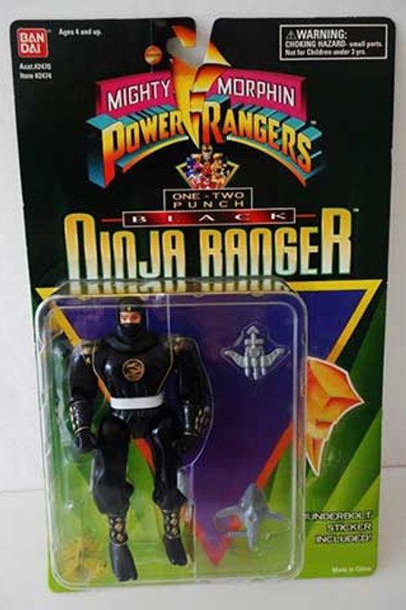 "Mighty Morphin Power Rangers 5.5"" One-Two Punch Black Ninja Ranger"