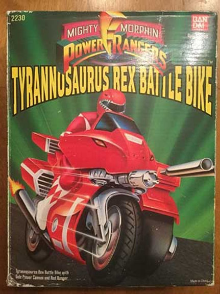 Mighty Morphin Power Rangers Battle Bikes - Tyrannosaurus Battle Bike