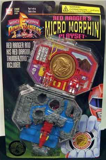 Mighty Morphin Power Rangers Red Ranger's Micro Morphin Playset