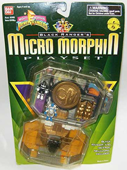 Mighty Morphin Power Rangers Black Ranger's Micro Morphin Playset