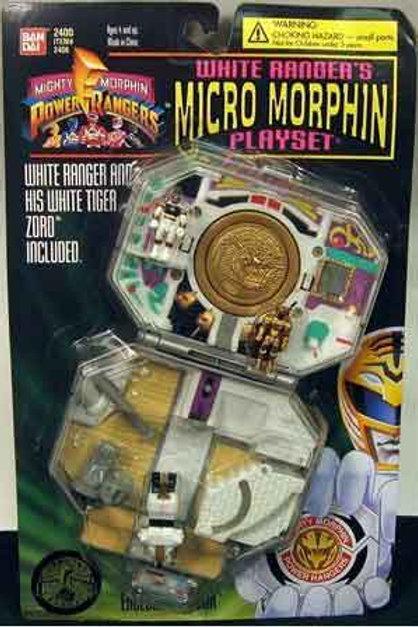 Mighty Morphin Power Rangers White Ranger's Micro Morphin Playset