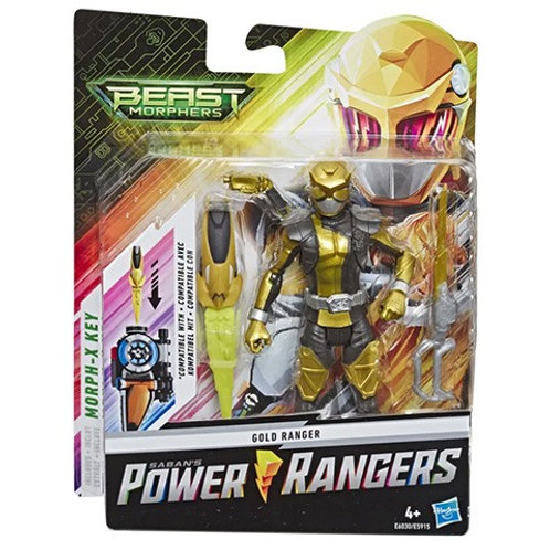 Power Rangers Beast Morphers Gold Ranger Action Figure