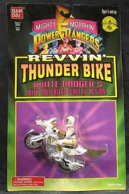 Mighty Morphin Power Rangers White Ranger's Revvin' Thunder Bike