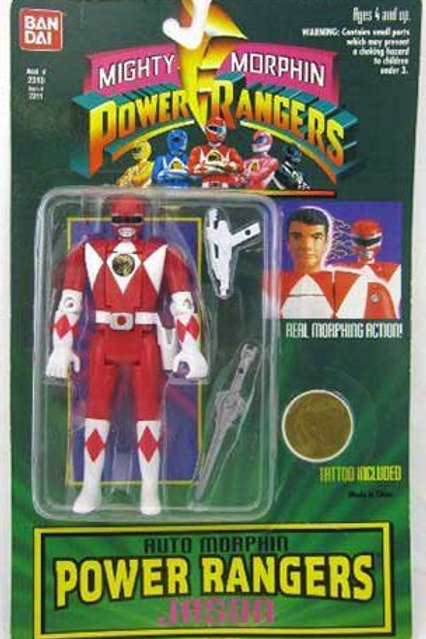 Mighty Morphin Power Rangers Auto Morphin Jason Red Ranger Action Figure