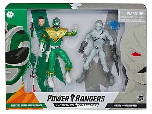 POWER RANGERS LIGHTNING COLLECTION FIGHTING SPIRIT GREEN RANGER/PUTTY PATROL 2PK
