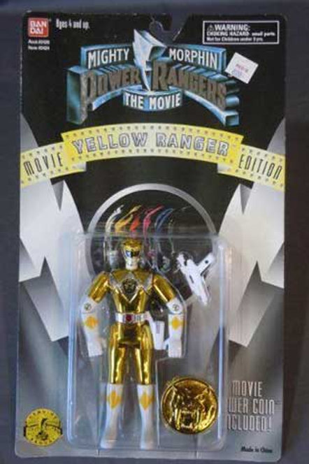 "Mighty Morphin Power Rangers 5.5"" Movie Edition Standard Yellow Ranger Action Fi"