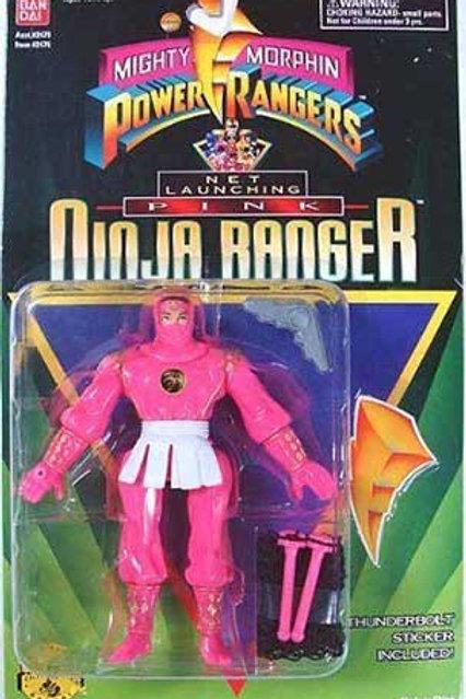 """Mighty Morphin Power Rangers 5.5"""" Net Launching Pink Ninja Ranger"""