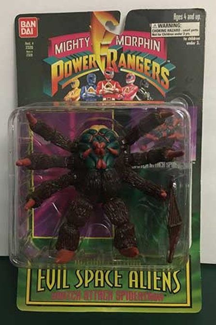"""Mighty Morphin Power Rangers Evil Space Aliens 5.5"""" Snatch Attack Spidertron"""