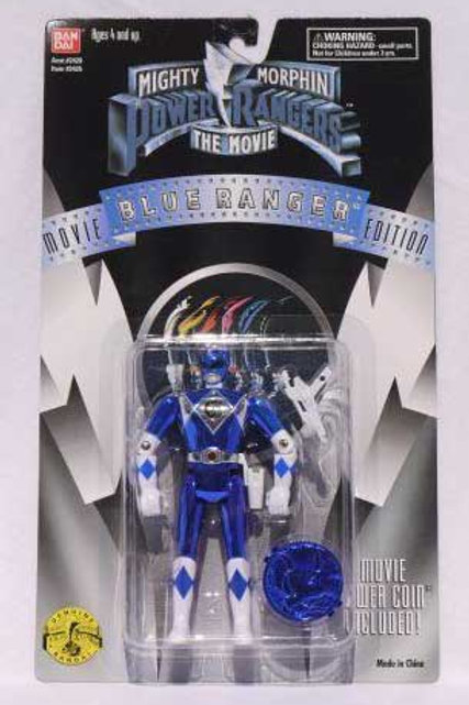 "Mighty Morphin Power Rangers 5.5"" Movie Edition Standard Blue Ranger Action Figu"