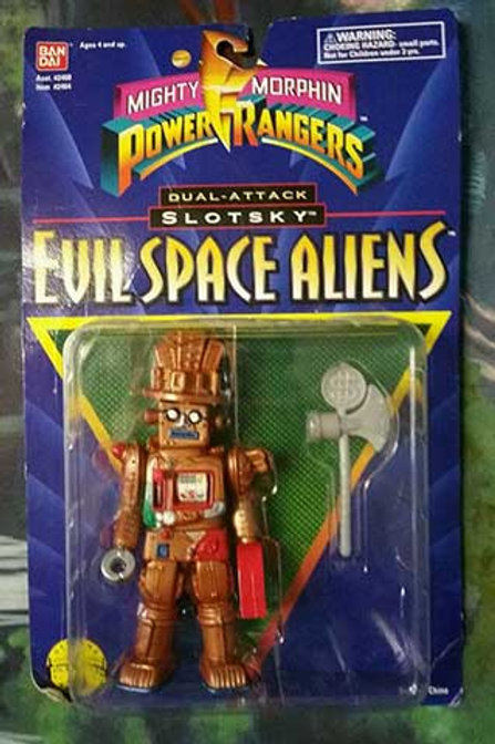 "Mighty Morphin Power Rangers Evil Space Aliens 5.5"" Dual-Attack Slotsky"