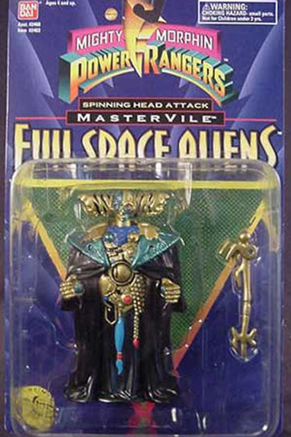 "Mighty Morphin Power Rangers Evil Space Aliens 5.5"" Spinning Head Master Vile"