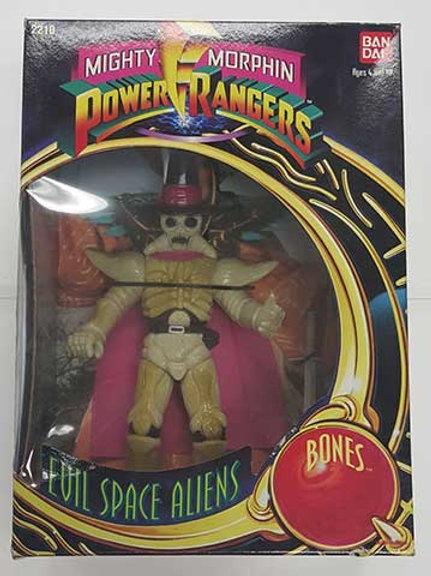 "Mighty Morphin Power Rangers Evil Space Aliens Bones 8"" Action Figure"