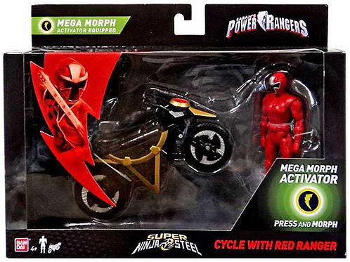 Cycle with Red Ranger