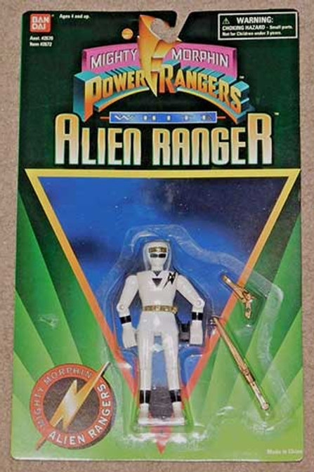 "Mighty Morphin Power Rangers 5"" White Alien Ranger"
