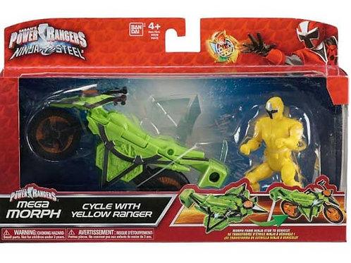 Mega Morph Cycle with Yellow Ranger