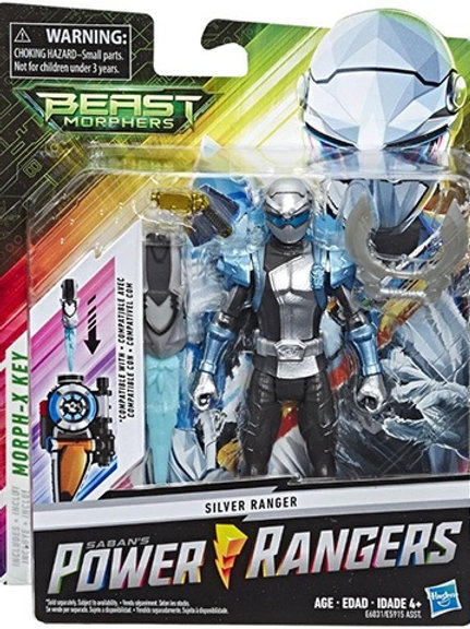 Power Rangers Beast Morphers Silver Ranger Action Figure
