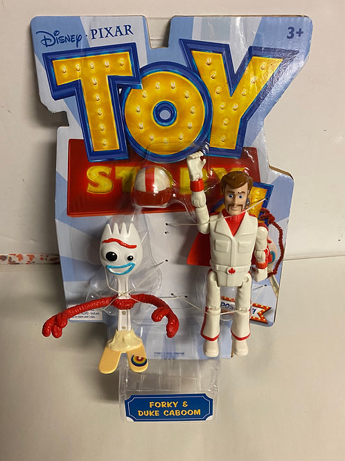 Disney's Toy Story 4 Movie action figure Forky & Duke Caboom