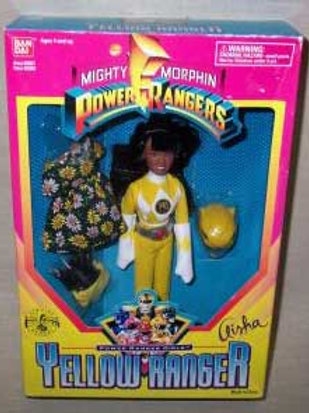 "Mighty Morphin Power Rangers 9"" Aisha Yellow Ranger Doll"
