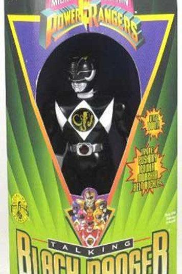 """Mighty Morphin Power Rangers 8"""" Talking Black Power Ranger"""