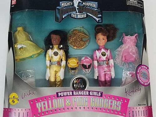 Mighty Morphin Power Rangers Girls Yellow & Pink Rangers Movie Edition