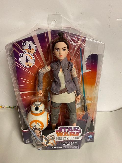 Star Wars Destiny Force Rey with BB-8