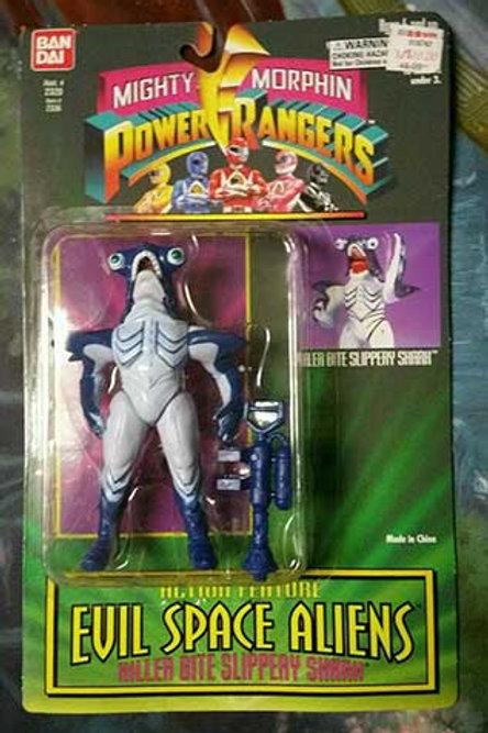 """Mighty Morphin Power Rangers Evil Space Aliens 5.5"""" Killer Bite Slippery Shark"""