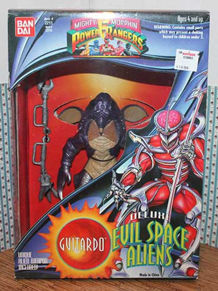 "Mighty Morphin Power Rangers Deluxe Evil Space Aliens Guitardo 8"" Action Figure"