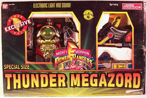 Mighty Morphin Power Rangers Special Size Thunder Megazord