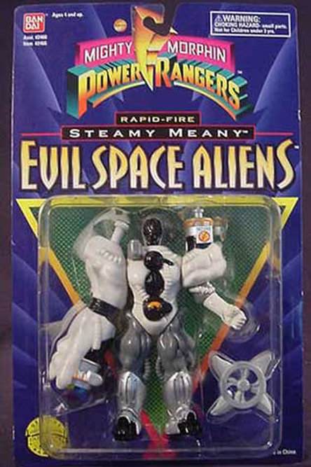 "Mighty Morphin Power Rangers Evil Space Aliens 5.5"" Rapid-Fire Steamy Meany"