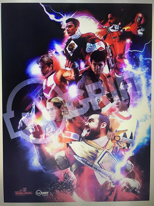Rangerstop  Convention Exclusive 11x17 Print Forever Red by Griff Art