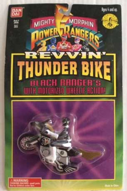 Mighty Morphin Power Rangers Black Ranger's Revvin' Thunder Bike