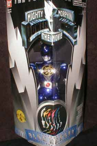 "Mighty Morphin Power Rangers 8"" 1995 Movie Edition Blue Ranger Action Fi"