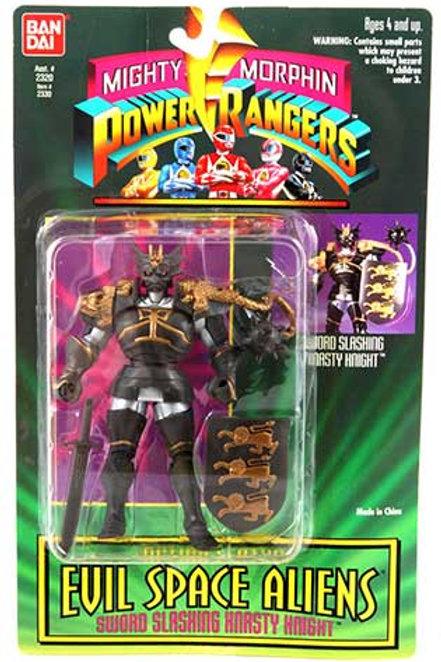 "Mighty Morphin Power Rangers Evil Space Aliens 5.5"" Sword Slashing Knasty Knight"
