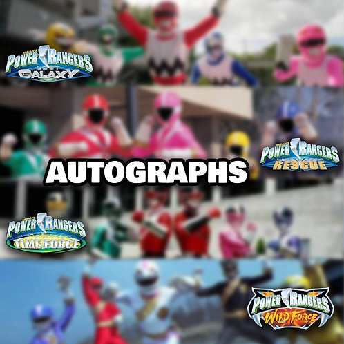 """1 Randomly Selected 8""""x10"""" Autograph from After Zordon Seasons"""