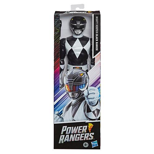 "Power Rangers Mighty Morphin 12"" Black Ranger Classic Figure"
