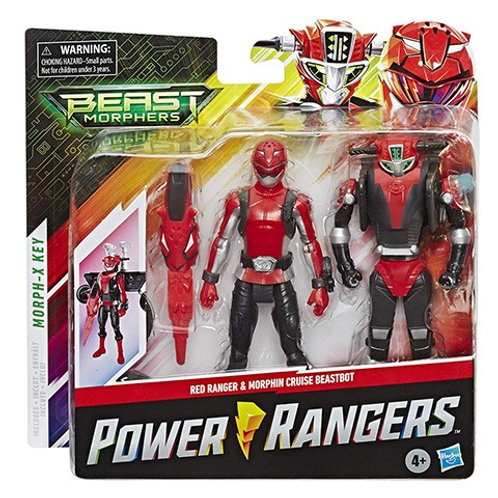 Power Rangers Beast Morphers Red Ranger & Morphin Cruise Beastbot Action Figure