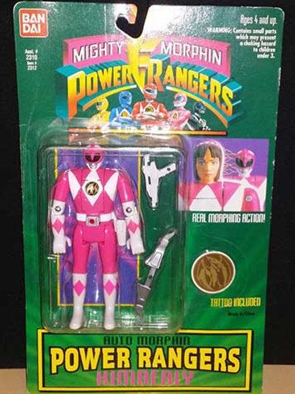 Mighty Morphin Power Rangers Auto Morphin Kimberly Pink Ranger Action Figure