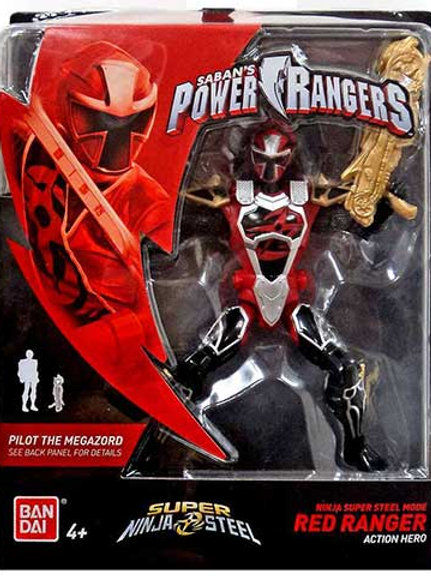 Ninja Super Steel Mode Red Ranger Action Hero