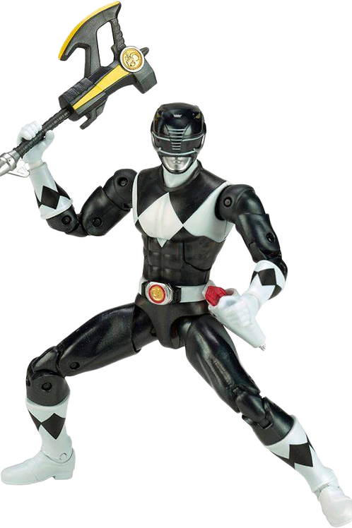 Power Rangers Legacy Collection Metallic Mighty Morphin Black Ranger